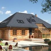 вальмовая крыша фото