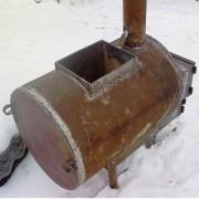 печь из трубы для бани фото
