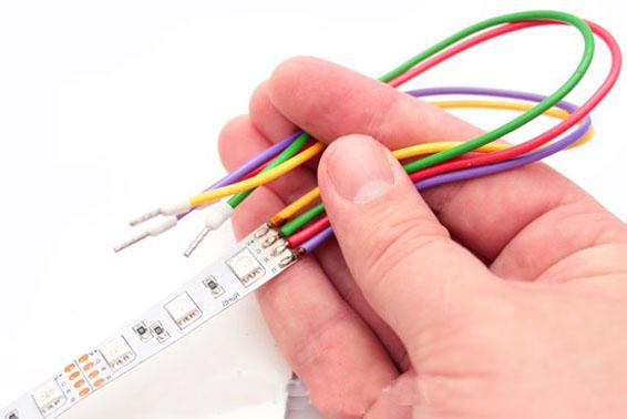 Пайка проводов светодиодной ленты