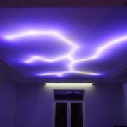 Светодиодная подсветка потолка молния