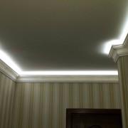 Светодиодная подсветка потолка пример