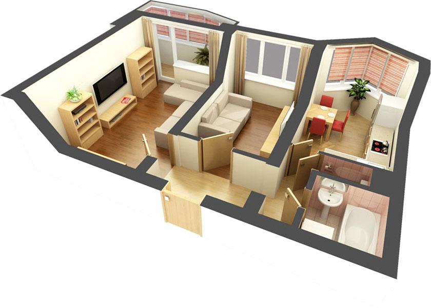 Дизайн интерьера квартиры хрущевки в современном стиле