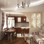 кухня гостинная в хрущевке роскошная