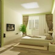 гостинная спальня в хрущевке светлозеленая