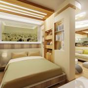 гостинная спальня в хрущевке олифковая