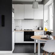 кухня гостинная в хрущевке серая