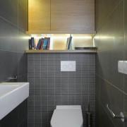 туалет в хрущевке серый