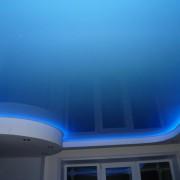 Светодиодная подсветка потолка синяя