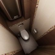туалет в хрущевке коричневый