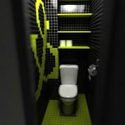 туалет в хрущевке черный с акцентом