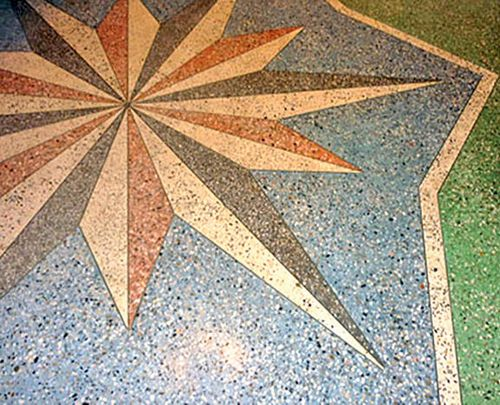 мозаика в бетоне